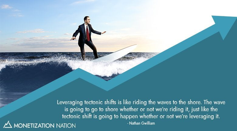 leverage leveraging riding waves shore tectonic shift