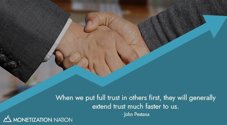 when we put full trust in other first, then